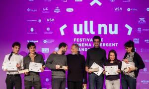 Foto de família dels guanyadors, en l'entrega de premis que va tenir lloc dissabte.