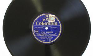 Un dels dos exemplars de 'La chanson du chevrier' del 1930 i amb veu del baríton Lucien Fuguère conservats a la discoteca de Radio Andorra.