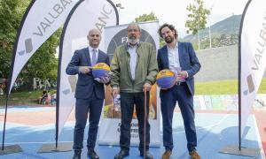 Un moment de la presentació del classificatori per a l'Europeu de 3x3 que es disputarà aquest cap de setmana a Escaldes.