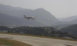 Les instal·lacions de l'aeroport de la Seu d'Urgell.