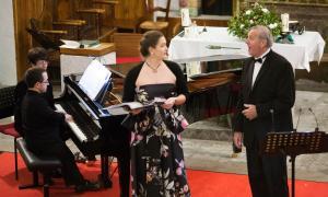 El Quartet Líric de Mabeli, amb la mezzo Caroline de Mahieu, l'any passat a Sant Serni.