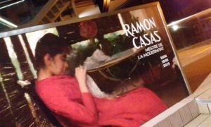 El cartell de 'Ramon Casas, metre del modernisme', que obrirà demà a Artalroc i que s'hi podrà visitar fins al 30 de juny.