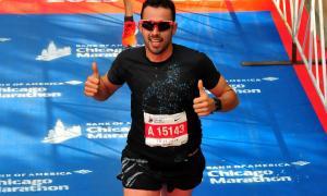 Xavier Jové, en la seva segona marató, és 283è a Chicago