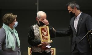 Charly Forés, emocionat en rebre el premi Agora: es va quedar sense paraules.