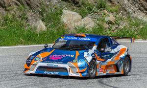 Edgar Montellà, al volant d'un SpeedCar GT-R en un moment de la Pujada a Arinsal.