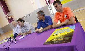 Un moment de la presentació, ahir, de la setena edició del Tim Vòlei Andorra.