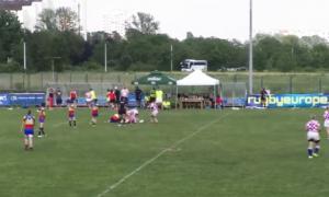 Un moment del partit d'Andorra davant el combinat croat pel cinquè lloc.