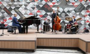Un moment del concert d'Antonio Ciacca Trio, ahir a Coprínceps.