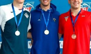 Bernat Lomero, amb la medalla de plata.