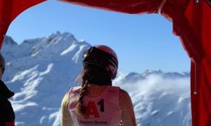 'Cande' Moreno va competir ahir a St. Anton en el segon descens de Copa d'Europa.