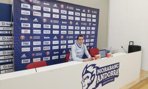 El capità Guille Colom va comparèixer ahir per valorar el partit contra el Tofas Bursa d'aquest vespre.