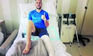 Marc Vales s'opera el tendó rotulià del genoll dret