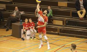 El col·locador andorrà Xavi Folguera, amb el Volleybalclub Greenyard Masseik.