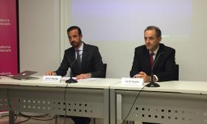 Jordi Torres i Jordi Nadal durant la roda de premsa d'ahir a la tarda.