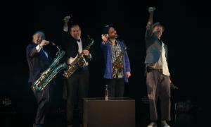 El quartet Désaxés, ahir la nit al Centre de Congressos en l'aperitiu del Sax Fest.