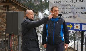 Gerard Carnicé i Miquel Casal ahir a Ransol.