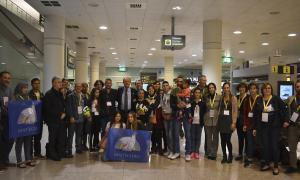 Les dues famílies de refugiats van arribar al país el 25 d'octubre passat.