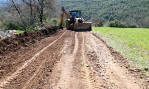 La pista forestal que es va habilitar per accedir al poble de Moror.