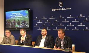 La presentació dels Festivals de Senderisme a càrrec de les diferents autoritats.