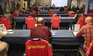 Un moment de l'assemblea, celebrada ahir al vespre en un hotel de la capital.