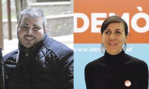 Marc Latorre, de Progressistes-SDP, i Noèlia Guillermo, de Demòcrates.