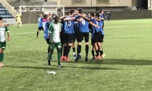 Els jugadors de l'Inter Club Escaldes el dia que van guanyar el títol de lliga.