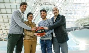 Pedregal, Alberch, 'Purito' Rodríguez, i Aixàs van presentar ahir el repte solidari.