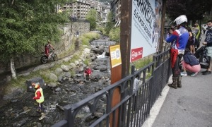 El 2 Dies de Trial d'Arinsal van deixar imatges espectaculars com aquesta al riu. Foto: Facundo Santana