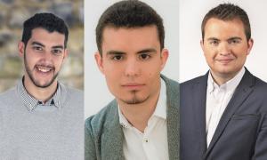 Pere Baró (PS), Jordi Ribes (DA) i Toni Puig (L'A).