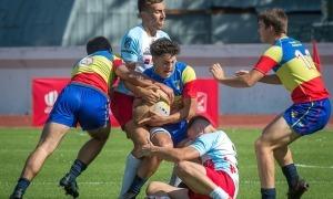 Nil Correia, el capità dels 'isards' U18. Foto: Rugby Europe