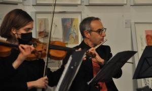 Imatge del concert de l'Orquestra Cadí a la sala Sant Domènec de la Seu.