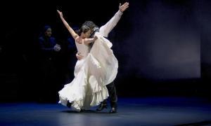 En l'espectacle 'Sueños', amb què Sara Baras ja va desfilar el 2005 pel Prat del Roure.