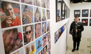 Algunes de les imatges que conformen l'exposició 'Emocions'.