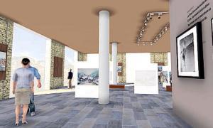 Fotomuntatge que dona una idea de com quedarà el nou Espai Galobardes que el Comú de Canillo obrirà a l'edifici del telecabina.