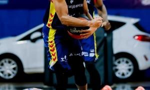 El base Clevin Hannah va liderar la vuitena victòria del curs a l'ACB contra el Bilbao.Foto: ACB Photo / Albert Martín