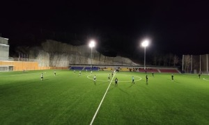 El nou camp de La Massana es va estrenar ahir amb un partit de la Copa Constitució. Foto: Facundo Santana