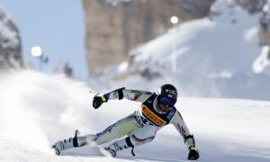 Joan Verdú va assolir l'objectiu marcat de finalitzar dins del Top-30 del supergegant del Campionat del Món a Cortina d'Ampezzo. Foto: Agence Zoom / Alexis Boichard