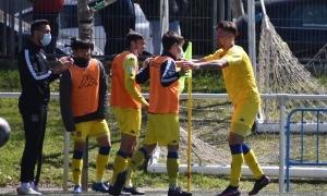 Christian García celebra el gol. Foto: Twitter AD Alcorcón