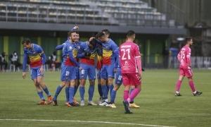 El davanter mataroní de l'FC Andorra, Carlos Martínez, va marcar els dos gols del triomf.Foto: Facundo Santana
