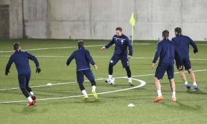 Márcio Vieira es va entrenar ahir a l'Estadi Comunal abans de complir els 100 partits amb la selecció. Foto: Facundo Santana