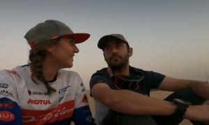 Margot Llobera i Javi Sancho, al desert de Dubai, abans de començar la competició. Foto: Instagram