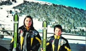 Mireia 'Mimi' Gutiérrez i Kevin Esteve, dos esquiadors que han format part de l'equip nacional i que sempre han estat units per l'amistat. Foto: Foto cedida per Kevin Esteve