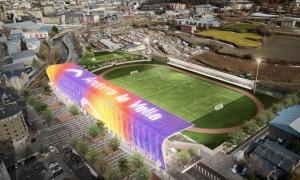 '4Atris.0', de l'arquitecte Pere Cervós, preveu una instal·lació força espectacular. Foto: Comú d'Andorra la Vella