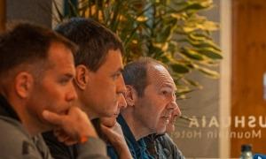 El president de la FAM, Jaume Esteve, el gener del 2020 a la roda de premsa de la presentació de la Comapedrosa Andorra. Foto: Vallnord