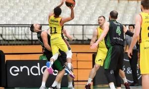 Clevin Hannah no va tenir el seu millor dia a la pista on va jugar per primera vegada a la Lliga ACB, Badalona. Foto: ACB Photo / D. Grau