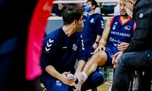 L'escorta nord-americà, Jeremy Senglin, es va lesionar divendres en el partit de Lliga ACB al Poliesportiu contra el Casademont Saragossa. Foto: ACB Photo / Martin Imatge