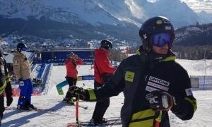 Joan Verdú, a Cortina d'Ampezzo. Foto: FAE
