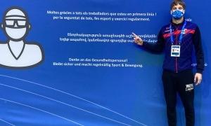 Bernat Lomero es va estrenar ahir al Campionat d'Europa de Budapest. Foto: FAN