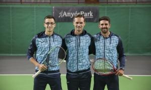 L'equip de la Copa Davis, a AnyósPark, comença dimarts a Skopje una nova participació. Foto: Facundo Santana