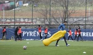 El nou tècnic de l'FC Andorra, Eder Sarabia, no debutarà diumenge. Foto: Facundo Santana